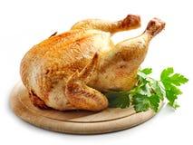 все зажаренное в духовке цыпленком стоковое фото rf