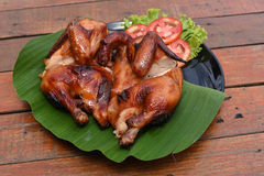 все зажаренное в духовке цыпленком Стоковое Фото