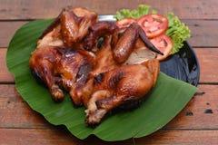 все зажаренное в духовке цыпленком Стоковая Фотография RF