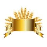 Все изолированные зерна и золотая широкая лента Стоковая Фотография