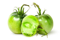 2 все и наполовину зеленые томаты Стоковые Изображения RF