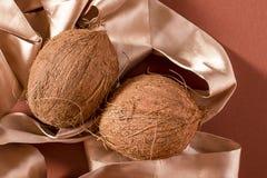 Все кокос 2 и лента стоковая фотография rf