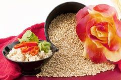 все коричневые совершенные сезоны риса Стоковые Изображения RF