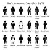 Все куртки людей и покрывают дизайны бесплатная иллюстрация