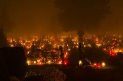 Все кладбище дня Святых Стоковые Фотографии RF