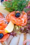 все отрезанные рыбы банкета Стоковая Фотография