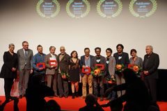 Все победители на Internationales Filmfestival Мангейм-Гейдельберге 2017 Стоковое Фото