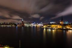 Все света в Стокгольме Стоковые Фотографии RF