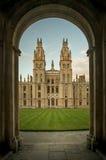 Все Святые коллеж, Оксфорд Стоковое Фото