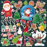 все символы рождества одного установленные иллюстрация штока