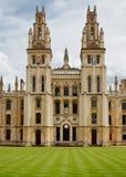 Все души коллеж, Оксфорд, Великобритания Стоковое Фото