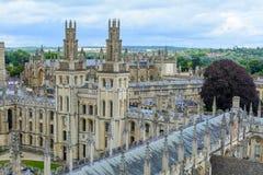 Все души коллеж, Оксфордский университет, Оксфорд, Великобритания Горизонтальный соперничайте Стоковая Фотография