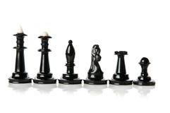 все части фото макроса шахмат черноты Стоковые Фото