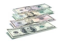 Все штабелируют тип американских долларов Стоковая Фотография