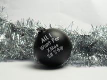 Все я хочу для рождества вы шарик Стоковые Изображения RF