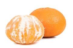 Все tangerines на белой предпосылке Стоковая Фотография