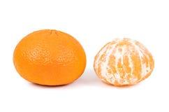 Все tangerines на белой предпосылке Стоковые Изображения