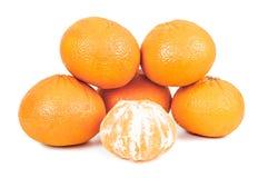 Все tangerines на белой предпосылке Стоковое Фото