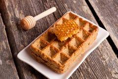 Все Waffles тыквы пшеницы с сотом Стоковые Изображения RF