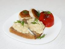 вскарабканные яичка завтрака Стоковая Фотография RF