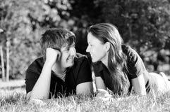 вскользь влюбленность пар Стоковая Фотография
