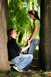 вскользь влюбленность пар Стоковое Фото