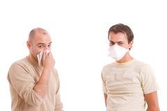 вскользь люди гриппа Стоковое Изображение