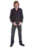вскользь человек стоя молода Стоковое фото RF