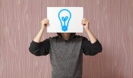 Вскользь бизнесмен имея идею Стоковое фото RF