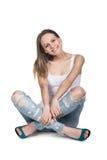 Вскользь молодая женщина Стоковое Изображение RF