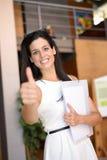 Вскользь успех бизнес-леди Стоковое фото RF