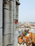 Всматриваться над городом Стоковое фото RF