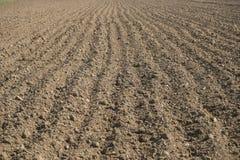 вспаханная земля Стоковая Фотография RF
