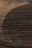 Вспаханное поле почвы Стоковое фото RF
