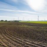 Вспаханные поля в Австрии стоковые изображения rf