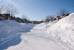 вспаханный снежок Стоковое Изображение RF