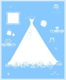 вспомогательная белизна венчания магазина платья Стоковое Изображение