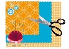 Вспомогательное оборудование для шить Стоковое Изображение