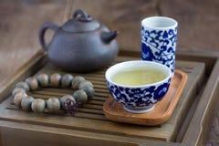 Вспомогательное оборудование церемонии чая традиционного китайския Стоковые Изображения RF