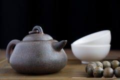Вспомогательное оборудование церемонии чая традиционного китайския Стоковые Изображения