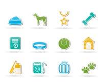 вспомогательные символы икон собаки Стоковая Фотография