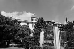 Вспомогательные здания собора сердца shishi священного, города Гуанчжоу, фарфора Стоковые Изображения RF