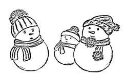 вспомогательные снеговики рождества предпосылки белые Стоковые Фотографии RF