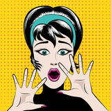 Вспугнутая женщина искусства шипучки иллюстрация вектора