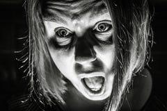 Вспугнутая женщина Стоковая Фотография