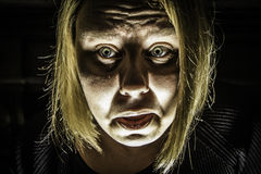Вспугнутая женщина 2 Стоковые Изображения RF