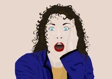 вспугнутая женщина Стоковые Изображения RF