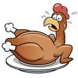 Вспугнутый цыпленок иллюстрация вектора