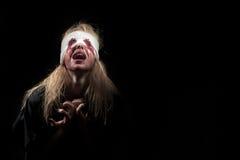 Вспугнутая кровопролитная девушка Стоковые Изображения