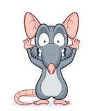 Вспугнутая крыса Стоковые Фотографии RF